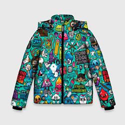Зимняя куртка для мальчика Стикербомбинг