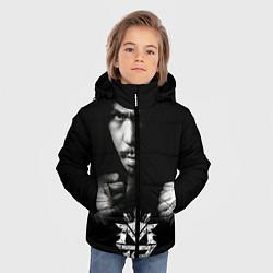 Куртка зимняя для мальчика Менни Пакьяо цвета 3D-черный — фото 2