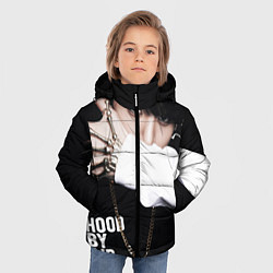 Детская зимняя куртка для мальчика с принтом BTS: Hood by air, цвет: 3D-черный, артикул: 10071615206063 — фото 2