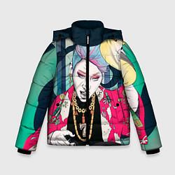 Куртка зимняя для мальчика Block B Girl цвета 3D-черный — фото 1
