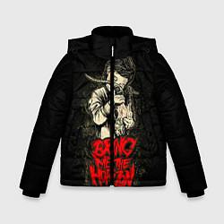 Детская зимняя куртка для мальчика с принтом Bring Me The Horizon, цвет: 3D-черный, артикул: 10073644106063 — фото 1