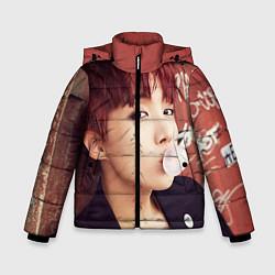Детская зимняя куртка для мальчика с принтом J-Hope, цвет: 3D-черный, артикул: 10076886506063 — фото 1