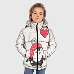 Куртка зимняя для мальчика Влюбленный пингвин цвета 3D-черный — фото 2