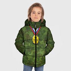 Куртка зимняя для мальчика Самый лучший дед цвета 3D-черный — фото 2