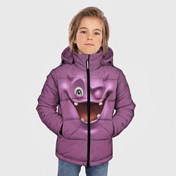 Куртка зимняя для мальчика Пластилиновый смайл цвета 3D-черный — фото 2