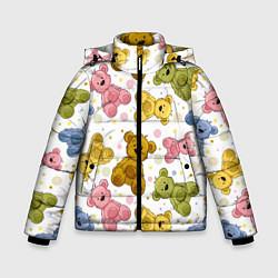 Куртка зимняя для мальчика Любимые медвежата цвета 3D-черный — фото 1
