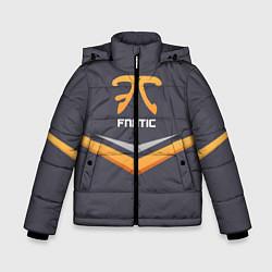 Куртка зимняя для мальчика Fnatic Arrows цвета 3D-черный — фото 1