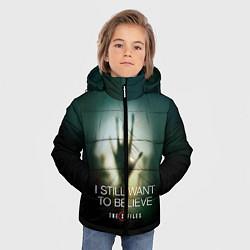 Куртка зимняя для мальчика X-files: Alien hand цвета 3D-черный — фото 2
