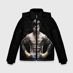 Куртка зимняя для мальчика Мэнни Пакьяо цвета 3D-черный — фото 1