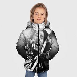 Куртка зимняя для мальчика Боб Марли поет цвета 3D-черный — фото 2
