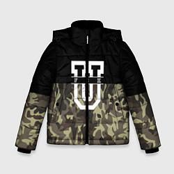 Куртка зимняя для мальчика FCK U: Camo цвета 3D-черный — фото 1