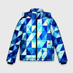 Куртка зимняя для мальчика Синяя геометрия цвета 3D-черный — фото 1