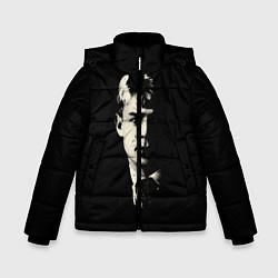 Зимняя куртка для мальчика Есенин Ч/Б