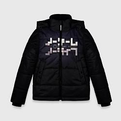 Куртка зимняя для мальчика No Game No Life лого цвета 3D-черный — фото 1