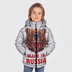 Куртка зимняя для мальчика Bear: Made in Russia цвета 3D-черный — фото 2