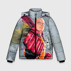 Куртка зимняя для мальчика One Punch Man Fist цвета 3D-черный — фото 1