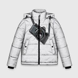 Куртка зимняя для мальчика Фотоаппарат на груди цвета 3D-черный — фото 1