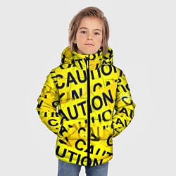 Детская зимняя куртка для мальчика с принтом Caution, цвет: 3D-черный, артикул: 10086347006063 — фото 2