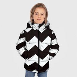 Куртка зимняя для мальчика Полосы цвета 3D-черный — фото 2