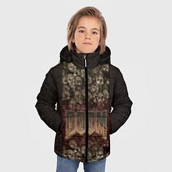 Куртка зимняя для мальчика DOOM Skulls цвета 3D-черный — фото 2