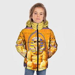 Детская зимняя куртка для мальчика с принтом Iron Maiden: Pharaon, цвет: 3D-черный, артикул: 10089880106063 — фото 2