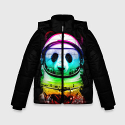 Куртка зимняя для мальчика Панда космонавт цвета 3D-черный — фото 1
