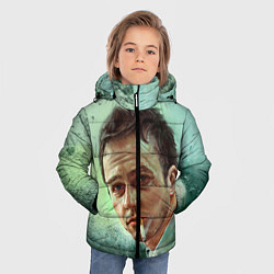 Куртка зимняя для мальчика Нортон с сигаретой цвета 3D-черный — фото 2
