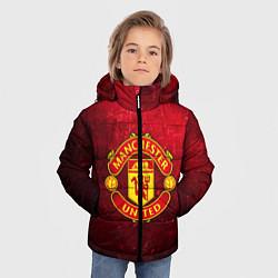 Куртка зимняя для мальчика Манчестер Юнайтед цвета 3D-черный — фото 2