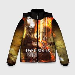 Куртка зимняя для мальчика Dark Souls War цвета 3D-черный — фото 1
