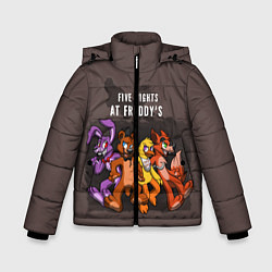 Детская зимняя куртка для мальчика с принтом Five Nights At Freddy's, цвет: 3D-черный, артикул: 10093561406063 — фото 1