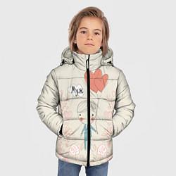Куртка зимняя для мальчика Муж с шариками цвета 3D-черный — фото 2