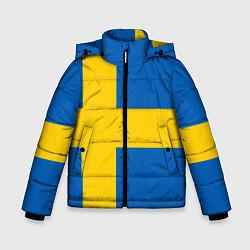 Куртка зимняя для мальчика Швеция цвета 3D-черный — фото 1