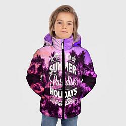Детская зимняя куртка для мальчика с принтом Hawaii dream 2, цвет: 3D-черный, артикул: 10096438106063 — фото 2