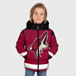 Куртка зимняя для мальчика Arizona Coyotes цвета 3D-черный — фото 2