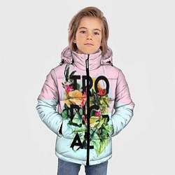Куртка зимняя для мальчика Tropical Art цвета 3D-черный — фото 2