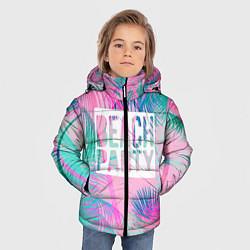 Куртка зимняя для мальчика Beach Party цвета 3D-черный — фото 2