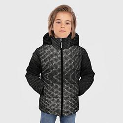 Куртка зимняя для мальчика Черная кожа - фото 2