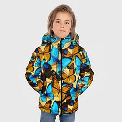 Детская зимняя куртка для мальчика с принтом Бабочки, цвет: 3D-черный, артикул: 10096494806063 — фото 2