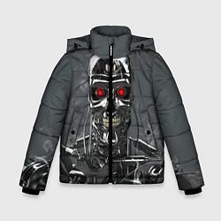 Зимняя куртка для мальчика Скелет Терминатора