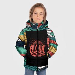 Детская зимняя куртка для мальчика с принтом Алоха, цвет: 3D-черный, артикул: 10098336506063 — фото 2
