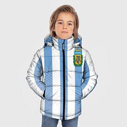 Куртка зимняя для мальчика Сборная Аргентины: ЧМ-2018 цвета 3D-черный — фото 2