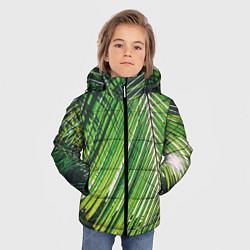 Куртка зимняя для мальчика Пальмы цвета 3D-черный — фото 2