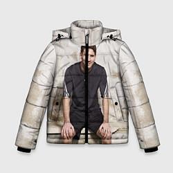 Куртка зимняя для мальчика Улыбчивый Месси цвета 3D-черный — фото 1