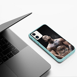 Чехол iPhone 11 матовый Конор Макгрегор цвета 3D-мятный — фото 2