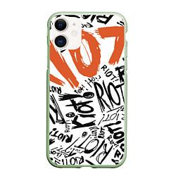 Чехол iPhone 11 матовый Paramore: Riot цвета 3D-салатовый — фото 1