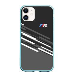 Чехол iPhone 11 матовый BMW: Sport Line цвета 3D-мятный — фото 1