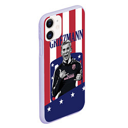 Чехол iPhone 11 матовый Griezmann: Atletico Star цвета 3D-светло-сиреневый — фото 2