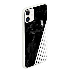 Чехол iPhone 11 матовый FC Juventus: Abstract цвета 3D-белый — фото 2