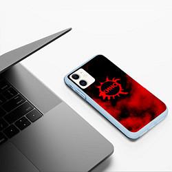 Чехол iPhone 11 матовый Кино цвета 3D-голубой — фото 2