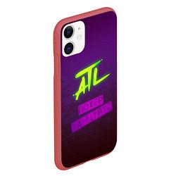 Чехол iPhone 11 матовый ATL цвета 3D-красный — фото 2
